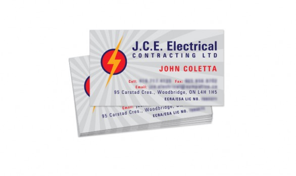 J.C.E. Electrical Contracting Ltd. – Business Card design