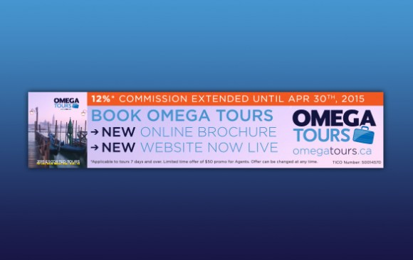Omega Tours – promotional ads (print/web)